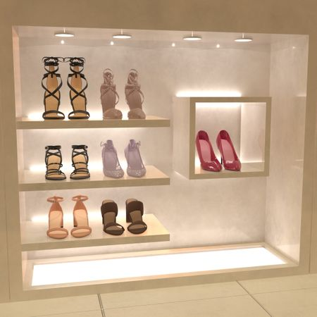 High Heels Cabinet Display