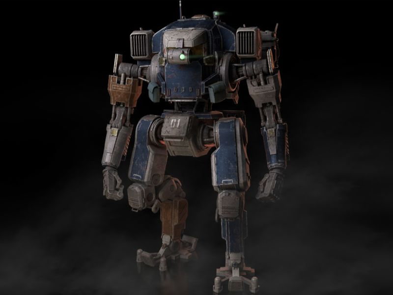 EA Titanfall Buddy-Titan Hardsurface Modeling