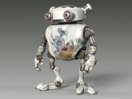 Vintage Porcelain Automaton