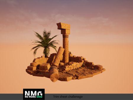 NoMoreGrid Challenge | Trim Sheets | Egyptian Ruins