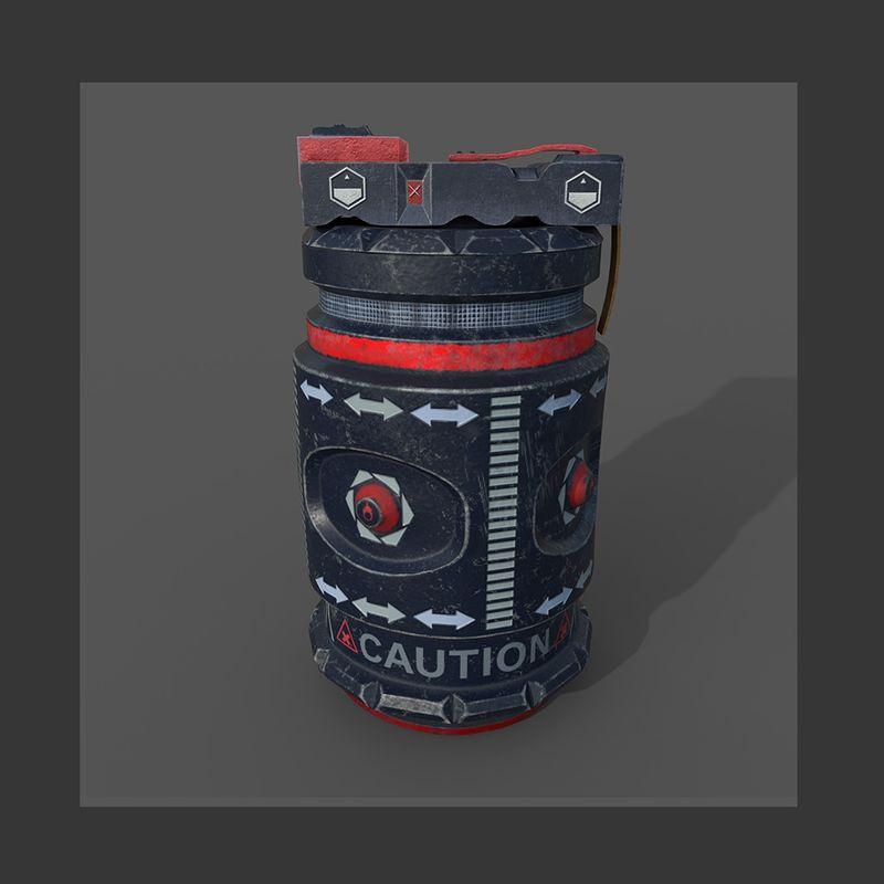 Sci Fi Hand Grenade Concept Art