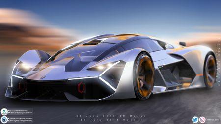 Lamborghini terzo millennio, in motion with love.