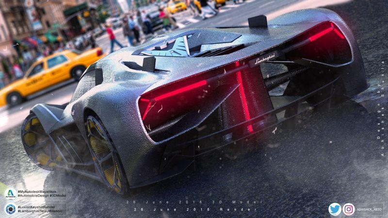 Lamborghini terzo millennio game art