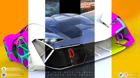 Lamborghini Terzo millennio concept 2017 Visualisation.