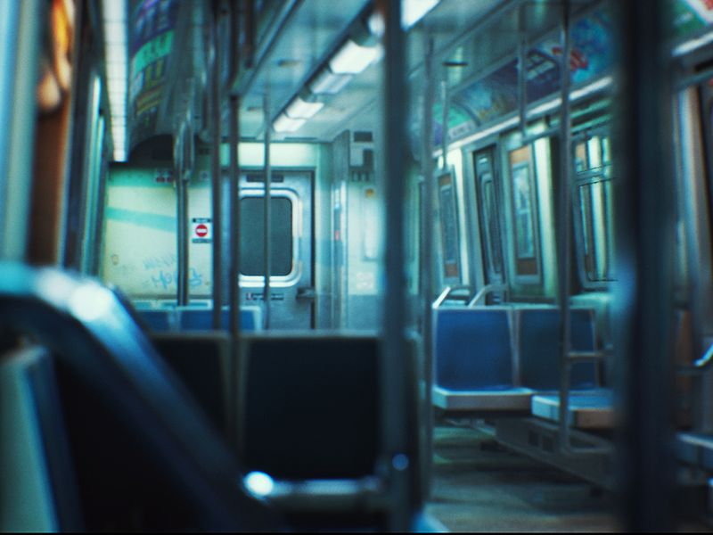 UE4 Lighting Practise | City Subway Train Relight