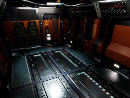 The Peregrine Spaceship cargo bay interior