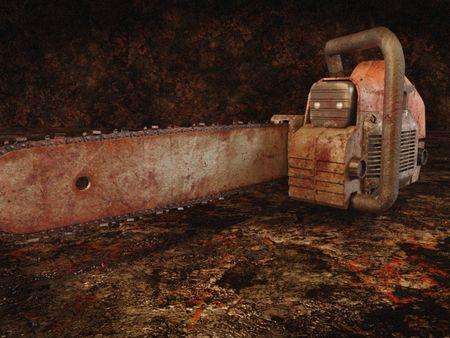 Horror chainsaw