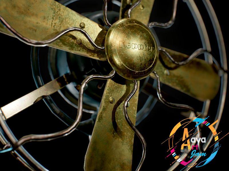 Keppler Vintage Fan - Aava Art Jam August 2020
