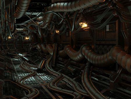 Recreated Sci-Fi Corridor