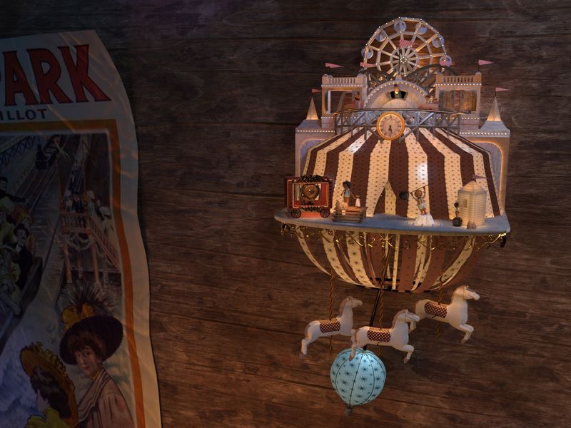 Early 1900s Amusement Park Cuckoo Clock