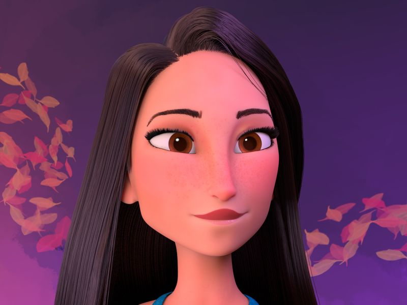 Pocahontas (Fan art from the movie Ralph Breaks the internet)