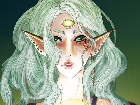 Empress Sara as  a goddess
