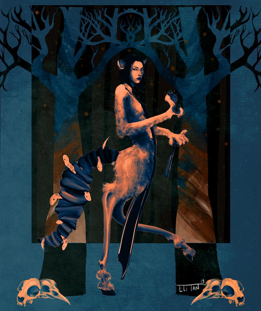 Eli Tan Chimera1 Poster Aelitan