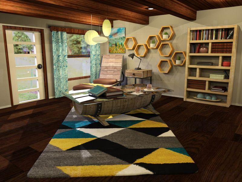 3D Rustic Pajama Lounge