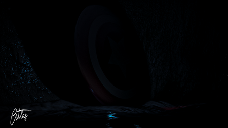 Captain America shield render