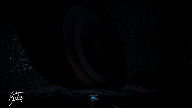 Captain America shield render