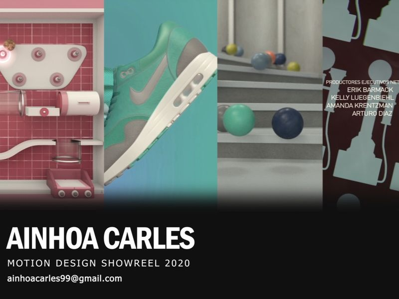 Motion Design Showreel by Ainhoa Carles