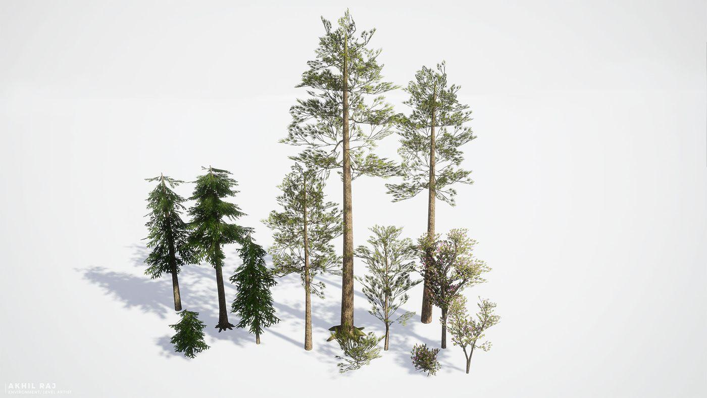 Woodland %28 Assets%20 %20 Trees%29 Akhilrajartwork