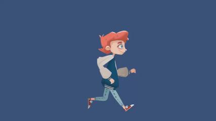 2D character run.