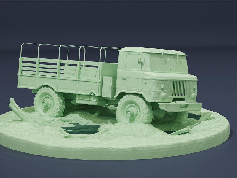 Gaz-66 modeling.