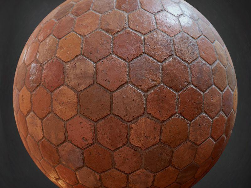 Old Terracotta Tiles - Substance Designer