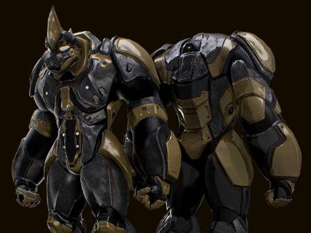 Rhino Mech Armor 3D Concept Art