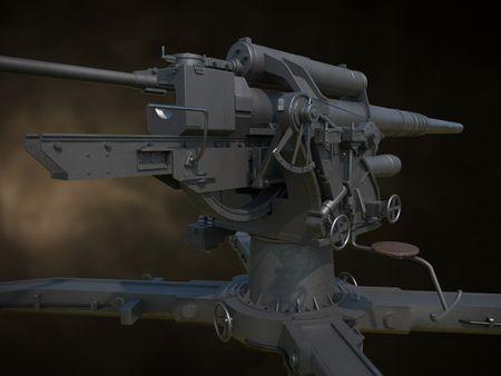 German 88mm Flak Cannon