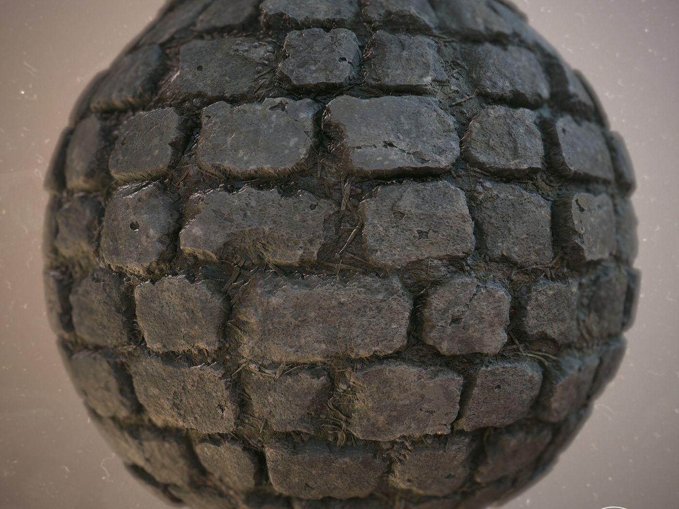 Cobble Stone Material