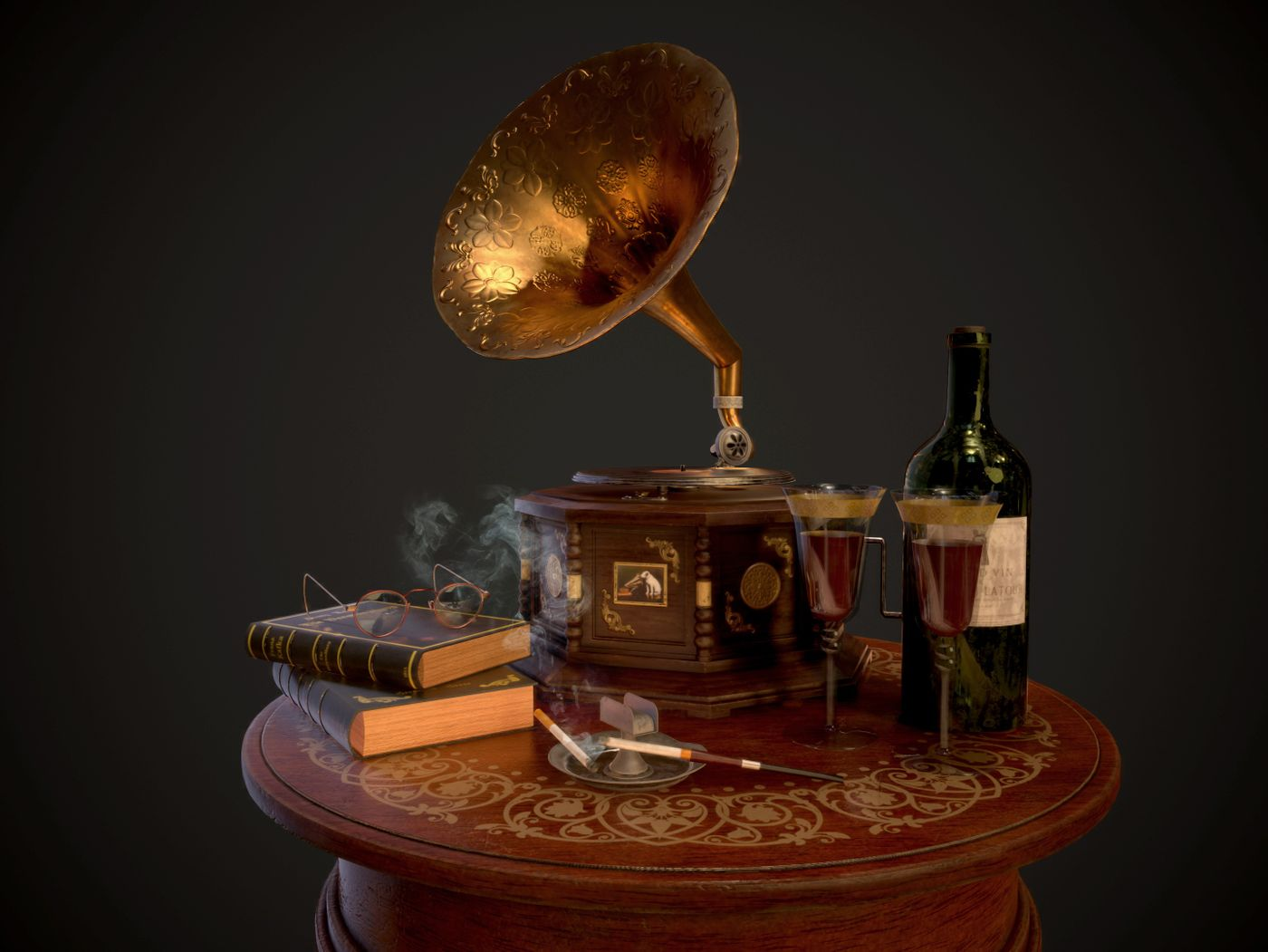Old Gramophone Scene