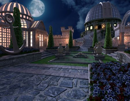 """Mystery Case Files: Black Crown"" Castle Garden Scene"
