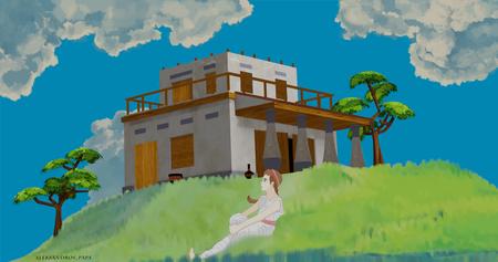 Ghibli style ancient Greece