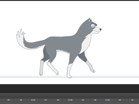 Wolf walk cycle