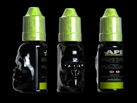 Gorilla inspired vape bottle