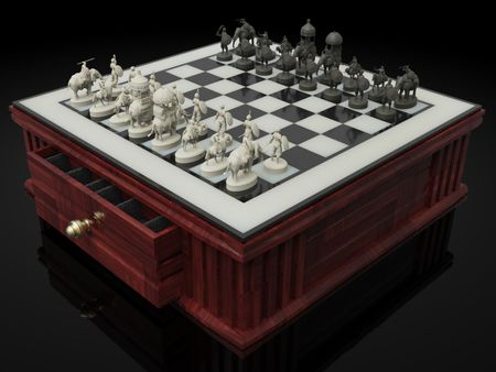 Indian Chess set. (3D Printable)