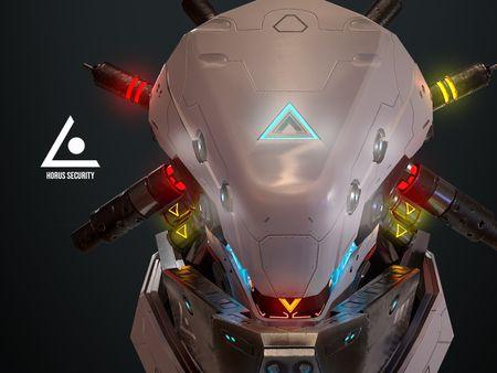 Sci-Fi: HORUS security Helmet