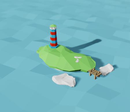 Low poly speedart 3D model