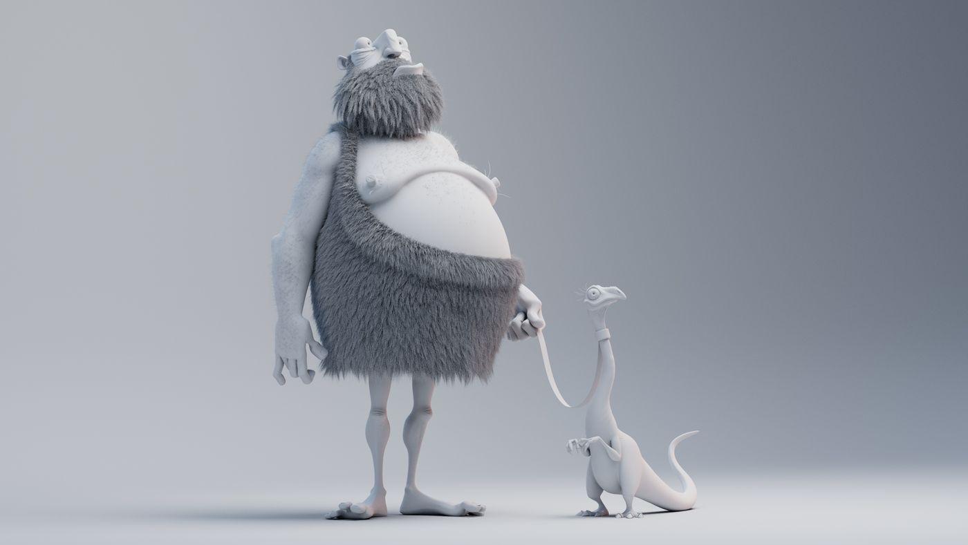 Caveman Dino Clay Alexandremougenot