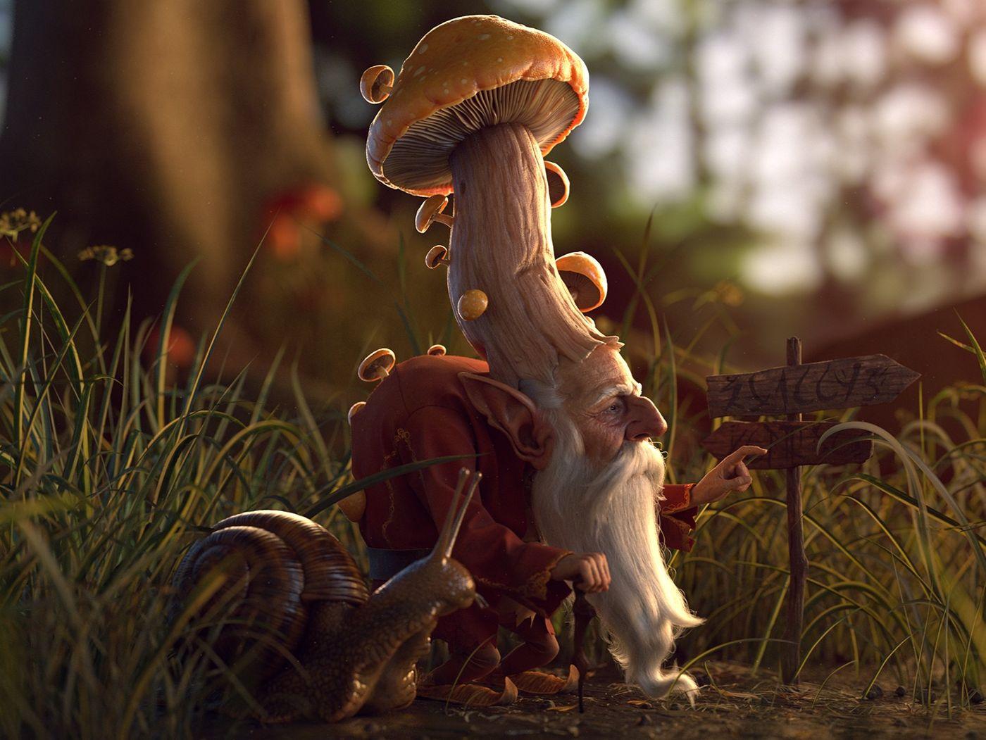 Mushroom King and Demon