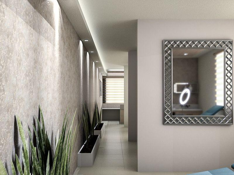 Small spa, interior design