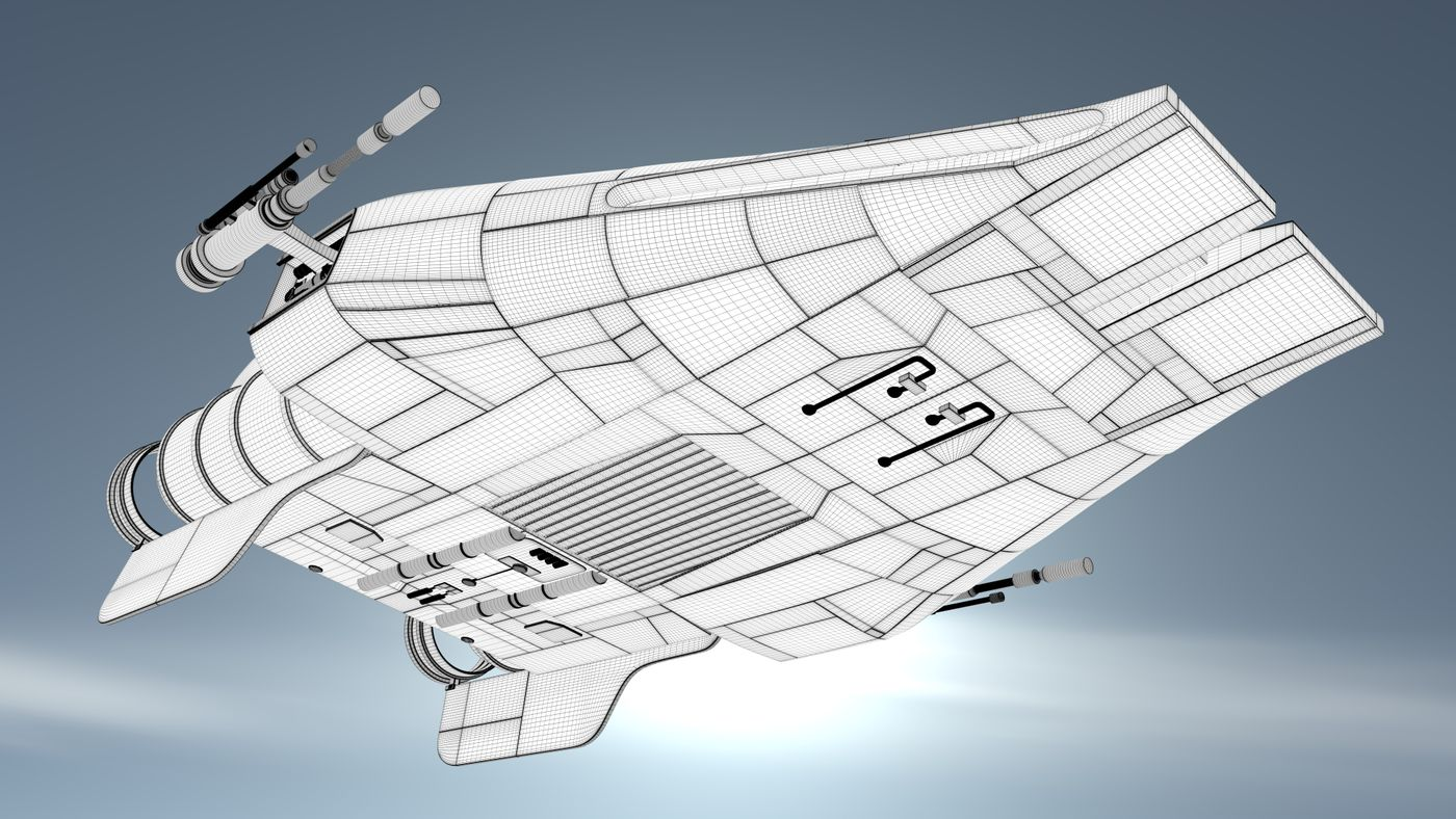 A Wing Wireframe Render002 Alexdrewett