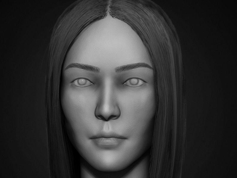 Liu Wen Head Sculpt