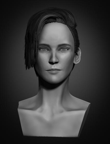 Kristen Stewart Likeness sculpt
