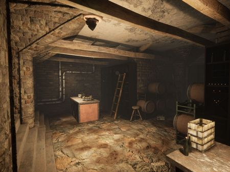 UE4 Dusty Wine Cellar