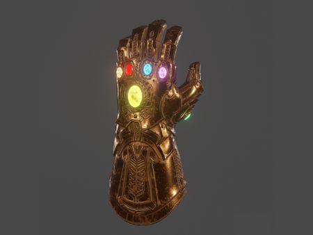 MCU's Infinity War Gauntlet Game Asset