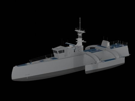 Sea Hunter 3D Game Asset
