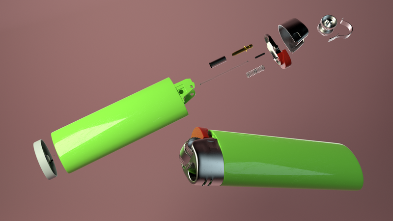 A Lighter (Disassembled)