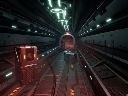 Space-Ship game environment in UE4