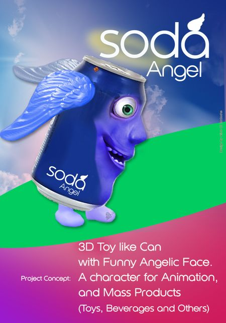 Soda Angel Can Character by Alice CC Iordache