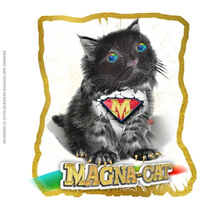 Magna Cat - Super Hero Character Design by Alice CC Iordache