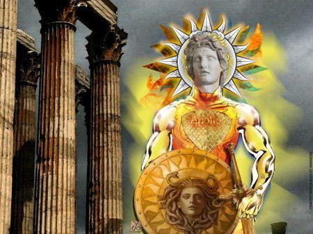 Apollo Greek Sun God Super Hero Concept Character  by Alice CC Iordache